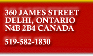 360 James Street North, Delhi, Ontario, Canada, N4B 2B4, 519-582-1830
